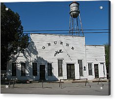 Texas Oldest Dance Hall Acrylic Print by Shawn Hughes