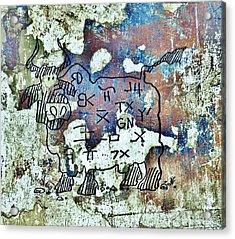 Texas Petroglyph Acrylic Print
