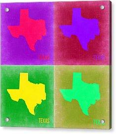 Texas Pop Art Map 2 Acrylic Print