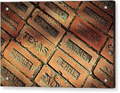 Texas Red Brick Acrylic Print