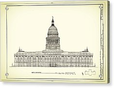 Texas State Capitol Architectural Design Acrylic Print