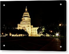 Texas State Capitol Acrylic Print by Dave Files