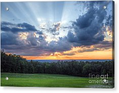 Texas Sunset As Seen From Louisiana Acrylic Print by D Wallace