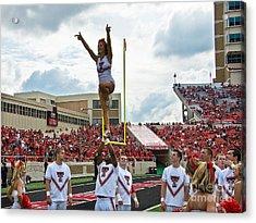 Acrylic Print featuring the photograph Texas Tech Cheerleaders by Mae Wertz