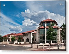 Acrylic Print featuring the photograph Texas Tech Student Union by Mae Wertz