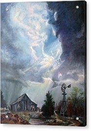 Texas Thunderstorm Acrylic Print by Karen Kennedy Chatham