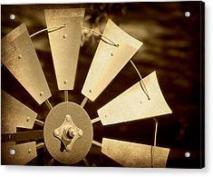 Texas Windmill Acrylic Print by Elizabeth Budd