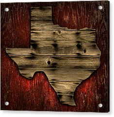 Texas Wood Acrylic Print by Darryl Dalton