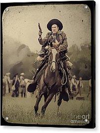 Texican Cavalry Acrylic Print
