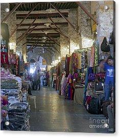 Textile Bazaar Acrylic Print by Paul Cowan