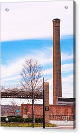 Acrylic Print featuring the photograph Historical Textile Mill Smoke Stack In Columbus Ga by Vizual Studio