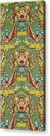 Textile With A Repeating Floral Motif, Lyon Workshop, Circa 1730 Silk Brocade Acrylic Print