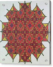 Textile With Geometric Pattern Acrylic Print