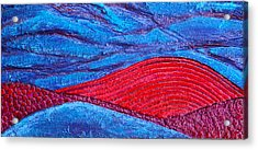 Texture And Color Bas-relief Sculpture #2 Acrylic Print