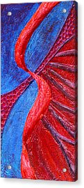 Texture And Color Bas-relief Sculpture #3 Acrylic Print by Karen Cade