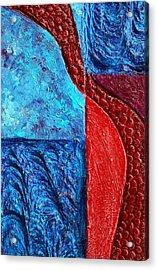 Texture And Color Bas-relief Sculpture #4 Acrylic Print by Karen Cade