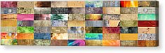Texture Collage Acrylic Print by Taylan Apukovska