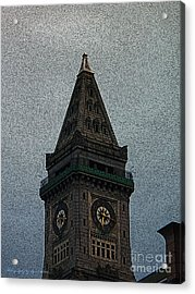 Acrylic Print featuring the photograph Textured Church Steeple  by Gena Weiser