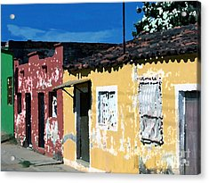 Textured - City In Mexico Acrylic Print