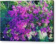 Textured Floral Abstract Acrylic Print by Linda Phelps