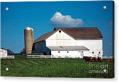 Acrylic Print featuring the photograph Textured - Plowing The Field by Gena Weiser