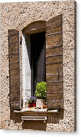 Textured Shutters Acrylic Print by Bob Phillips