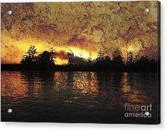 Textured Sunrise Acrylic Print by Erica Hanel