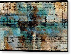 Acrylic Print featuring the digital art Textured Turquoise by Lon Chaffin