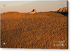 Textures In The Bisti Wilderness Acrylic Print by Vivian Christopher