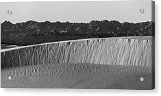 Textures Of Dune Acrylic Print by Peter Tellone