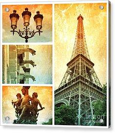 Textures Of Paris Collage Acrylic Print