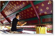 Thai Artisan At Work Acrylic Print