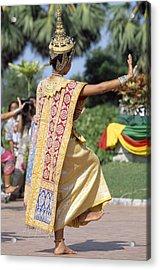 Thai Dancer At Loy Krathong Festival Acrylic Print by Richard Berry