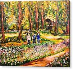 Thai Flower Garden Acrylic Print
