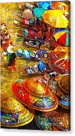 Thai Market Day Acrylic Print