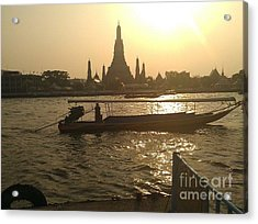 Thai Sunset Acrylic Print by Ted Williams
