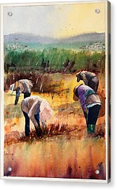 Thai Workers - Prayer Acrylic Print