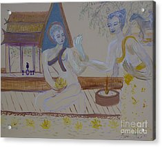 Acrylic Print featuring the painting Thailand by Avonelle Kelsey