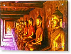 Thailand Buddhas Acrylic Print by Gregory Dyer
