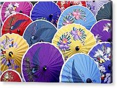 Thailand. Chiang Mai Region. Umbrellas Acrylic Print by Anonymous