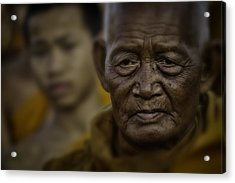 Thailand Monks 2 Acrylic Print by David Longstreath