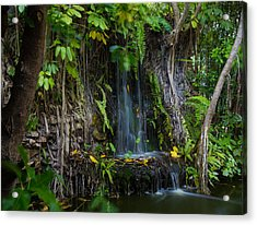 Acrylic Print featuring the photograph Thailand Waterfall by Mike Lee