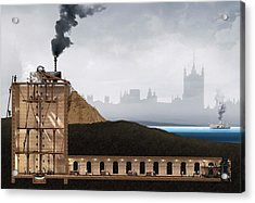 Thames Tunnel Construction Acrylic Print by Claus Lunau/science Photo Library