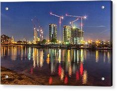 Thames View At Twilight Acrylic Print