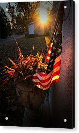 Acrylic Print featuring the photograph Thank You For Serving by Robert McCubbin