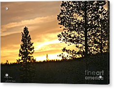 Thank You My Lord For Blessing Me -  Thank You My Lord For A Beautiful Landscape - Amen. Acrylic Print by  Andrzej Goszcz