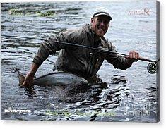 Thank You So Much Sebastian. Byske River. Sweden. Acrylic Print by  Andrzej Goszcz