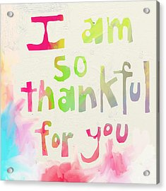 Thankful Acrylic Print