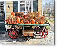 Thanksgiving Cart Acrylic Print