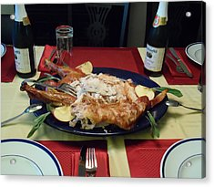 Acrylic Print featuring the photograph Thanksgiving by Philomena Zito